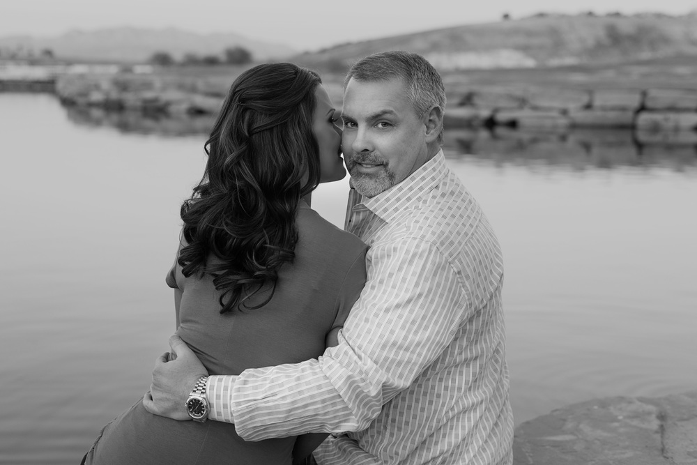 Las Vegas Wedding Planner and AltF Photography Engagement Photos in Lake Las Vegas