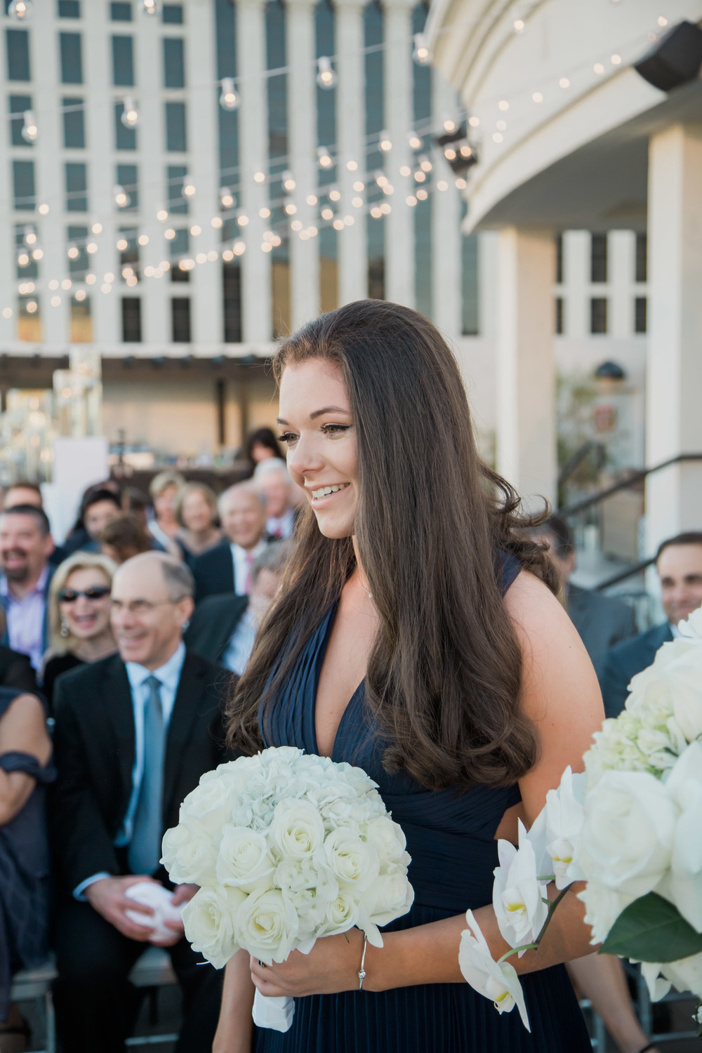 The bride's daughter was her maid of honor.  Vendor Credits:    Wedding in the   Nobu Villa    |    Las Vegas Wedding Planner   Andrea Eppolito     |    Photography by   Adam Frazier    |    Videography by   Pure Light Creative    |    Floral and Decor by   Destinations by Design    |  Lighting by LED Unplugged  |    Music by   DJ Mike Fox