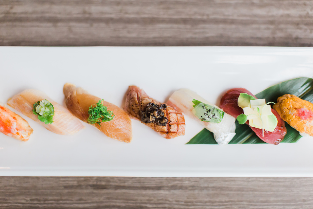 Just a sample of the specialities at Sushi Roku Scottsdale.