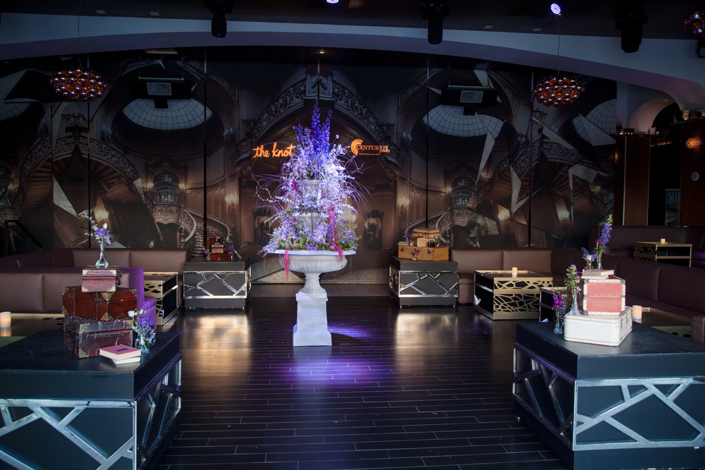 Las Vegas Wedding Planner and Event Designer Andrea Eppolito produces an Atonement themed party for The Knot Rocks JCK 2016 for The Knot Pro.  Photo by Adam Frazier.