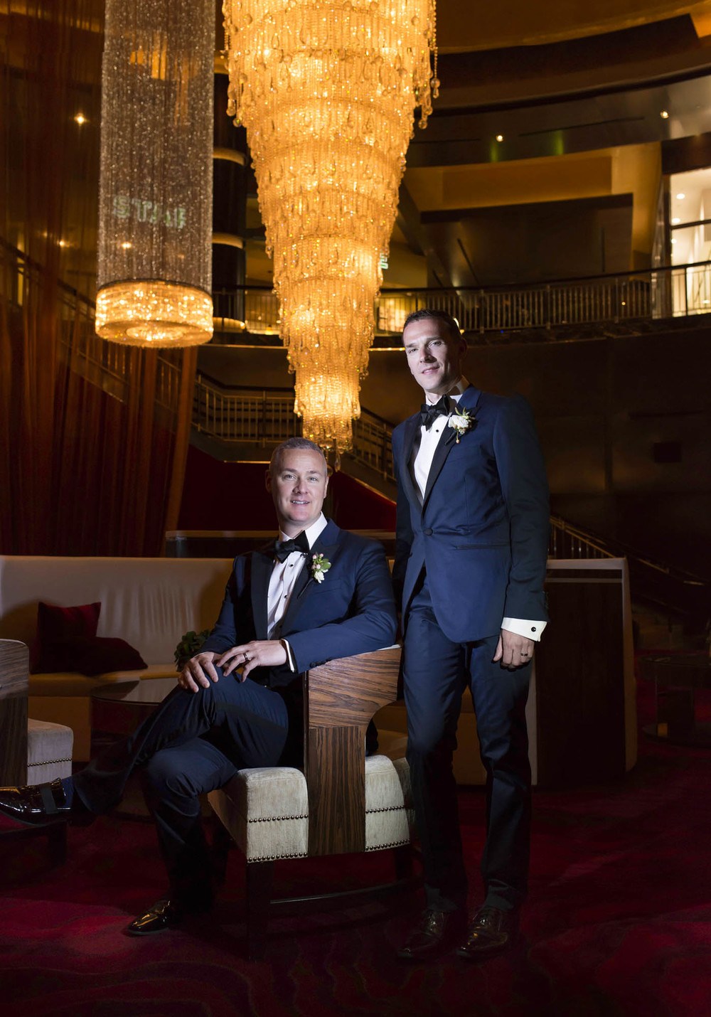 Grooms Fletcher and Greg celebrate their same-sex marriage at Red Rock Resort and Casino