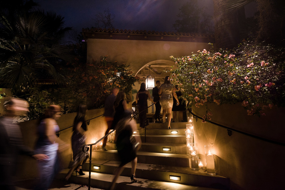 Enchanted arrival for a luxury destination wedding in Scottsdale.