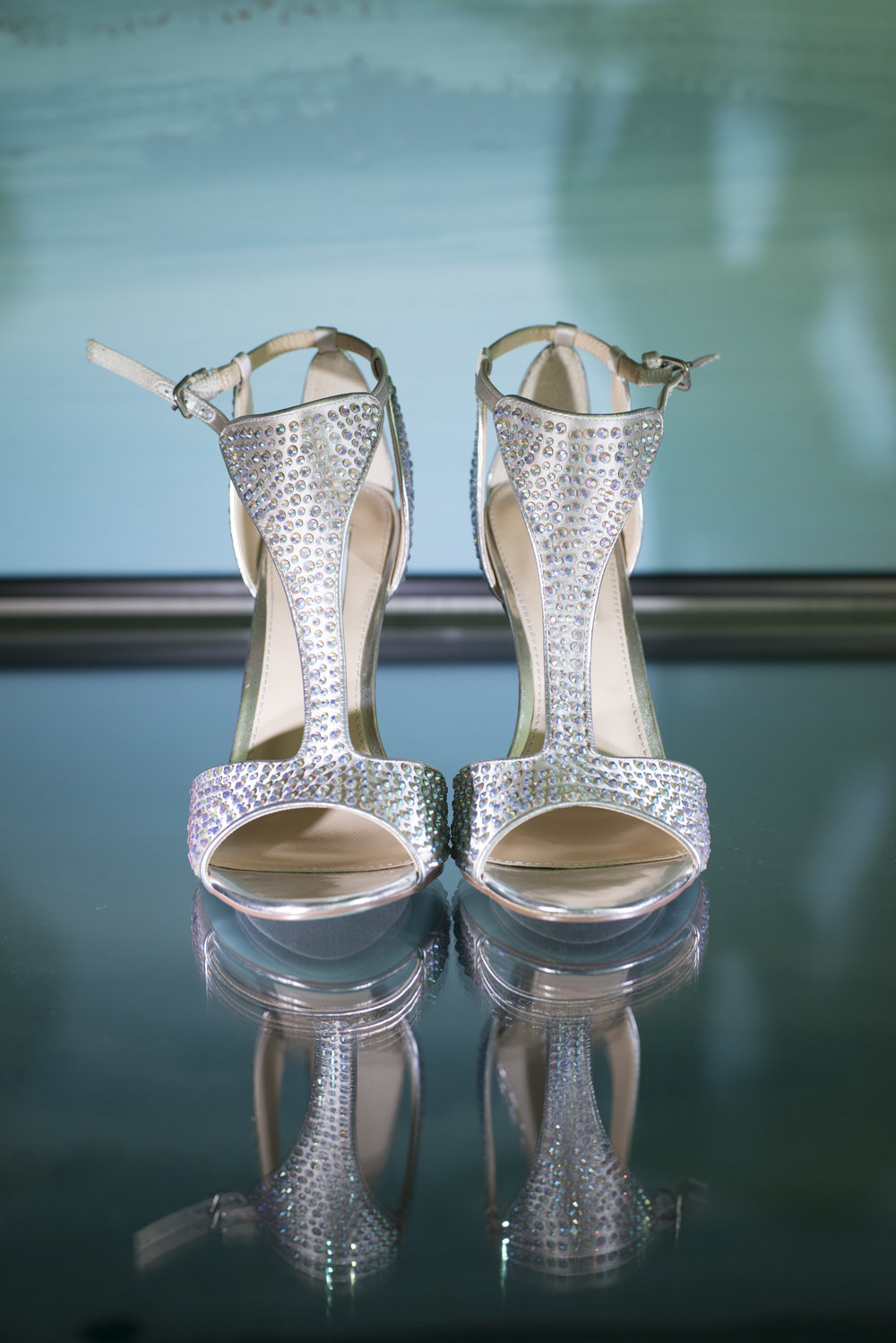 Blue soles on bridal shoes by Betsy Johnson.   Las Vegas Wedding Planner Andrea Eppolito | Image by AltF Photography.