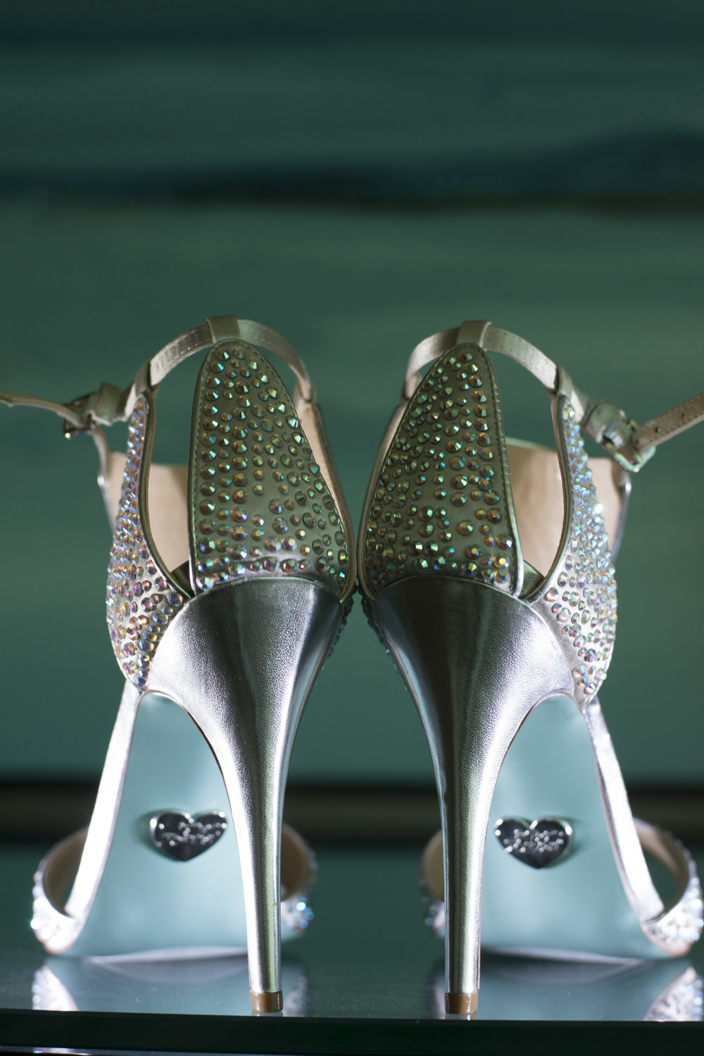 Blue bottom wedding shoes by Betsy Johnson. Las Vegas Wedding Planner Andrea Eppolito | Image by AltF Photography.
