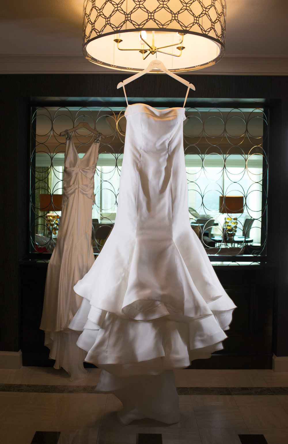 Wedding Dress by Sareh Nouri at Mon Ami Salon.  Luxury Las Vegas Wedding Planner Andrea Eppolito.  Wedding at Four Seasons Las Vegas.  Image by AltF Photography.