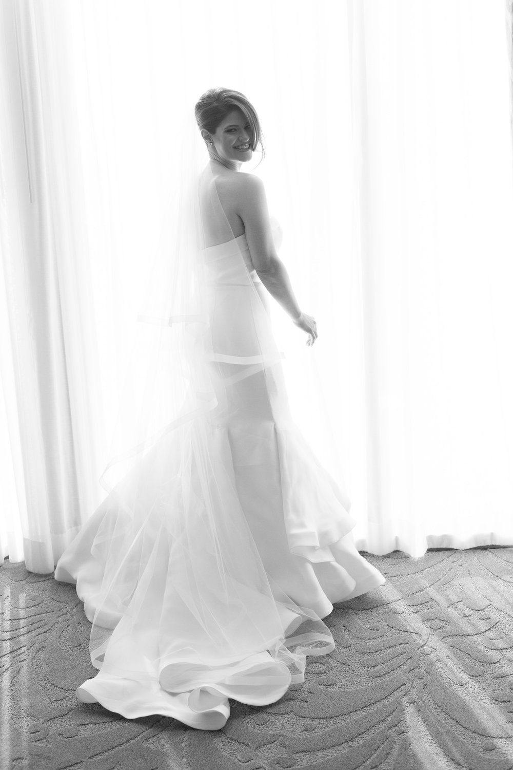 Bride in Sareh Nouri wedding dress.  Las Vegas Wedding Planner Andrea Eppolito.  Image by AltF Photography.