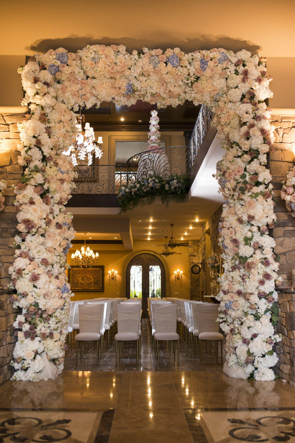 Wedding Ceremony in Private Estate.  Luxury Las Vegas Wedding Planner Andrea Eppolito.  Image by AltF Photography.