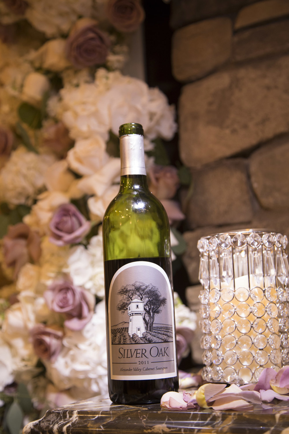 The couple served the same wine they shared on their first date.  Personal wedding details to make your guests say wow. Luxury Las Vegas Wedding Planner Andrea Eppolito.  Image by AltF Photography.