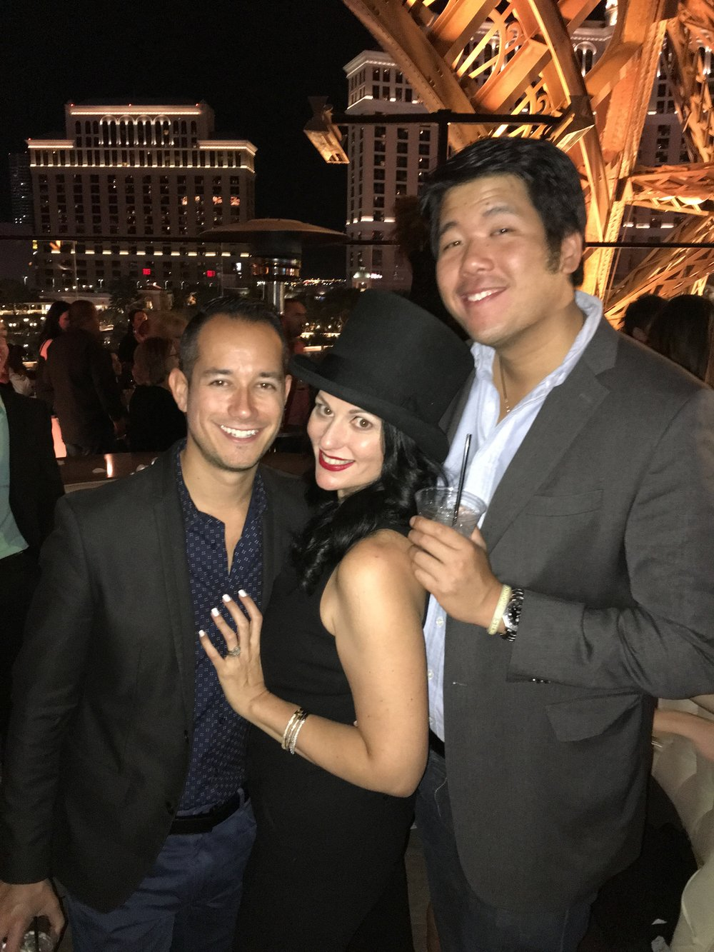 Las Vegas Wedding Planner Andrea Eppolito with Brian Leahy and Dennis Kwan; celebrity wedding photographers. Wedding MBA 2017.