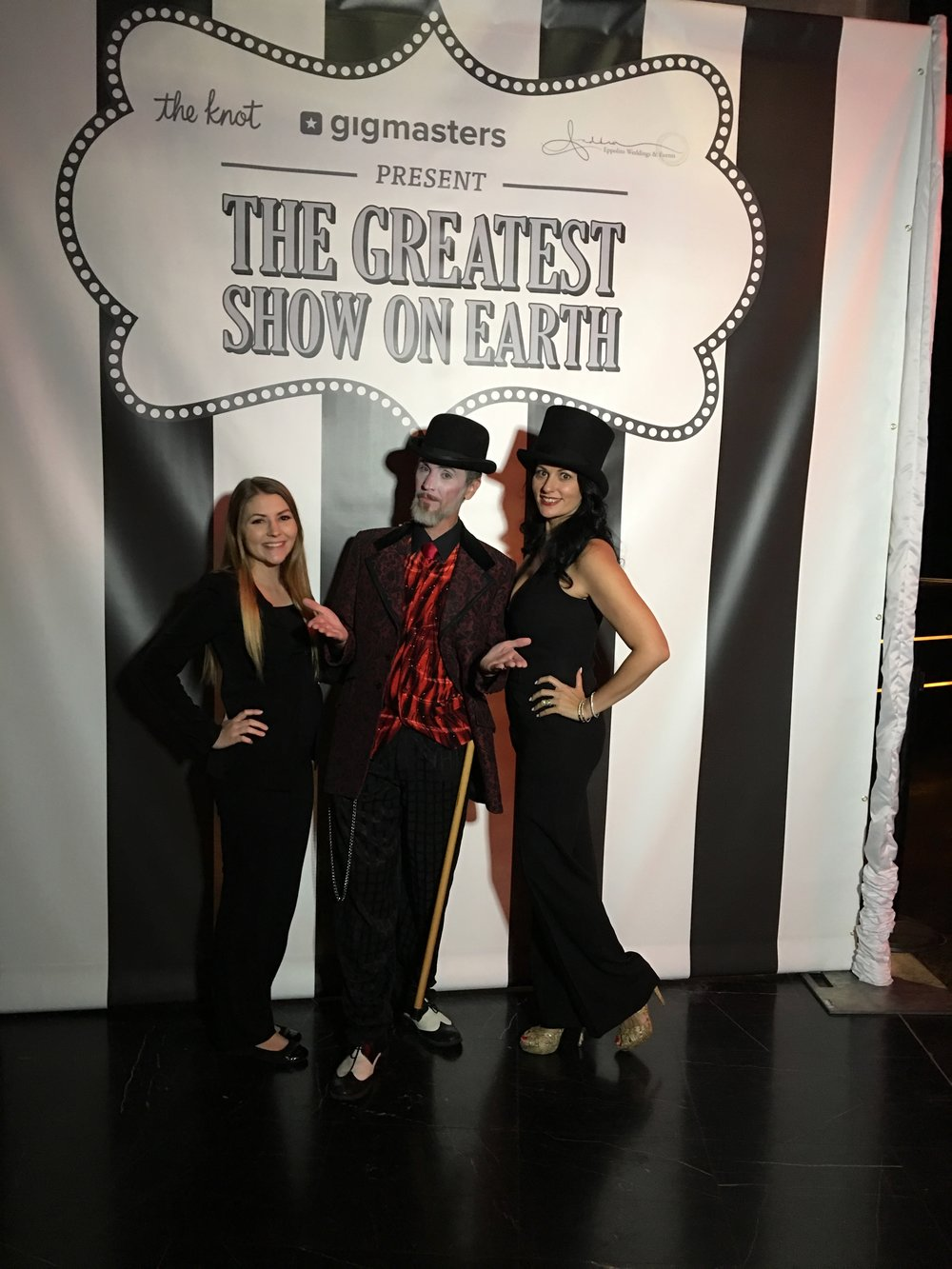 Welcome to the Greatest Show on Earth - The Dark Circus for The Knot Gala 2017 by Las Vegas Wedding Planner Andrea Eppolito .