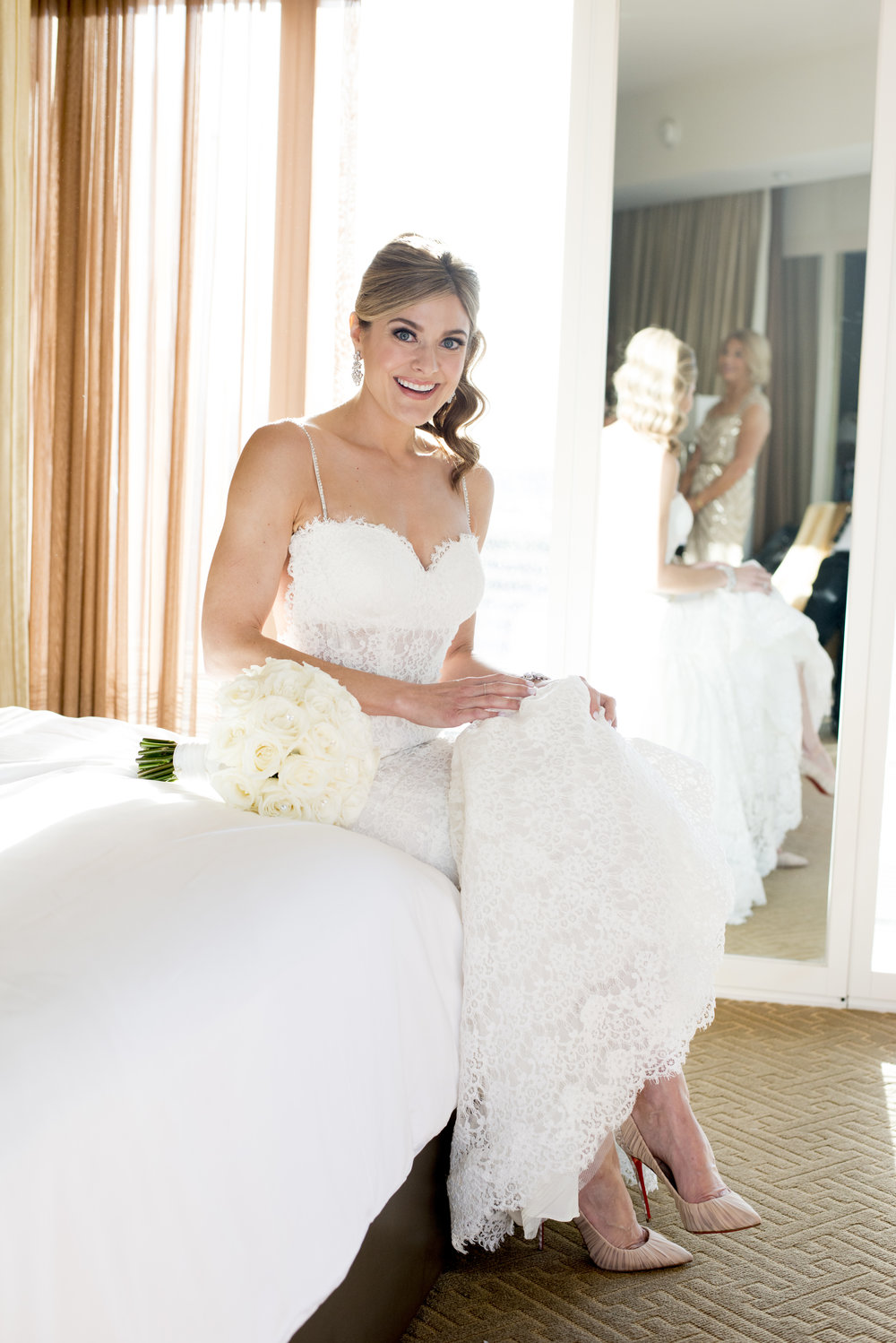 Bridal Portrait of Jennifer Beasley in P'Nina Tornai. Image by AltF.