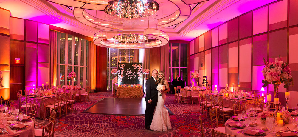 Wedding Reception at Mandarin Oriental. Las Vegas Wedding Planner Andrea Eppolito.  Image by AltF.