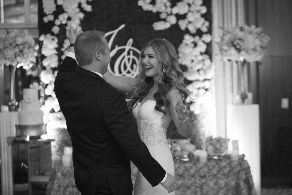 First Dance at Mandarin Oriental.. Las Vegas Wedding Planner Andrea Eppolito.  Image by AltF.
