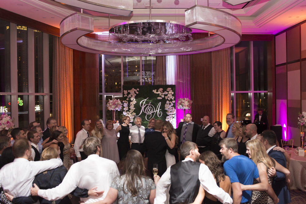Last Dance to remix of Don't Stop Believin' at Mandarin Oriental. Las Vegas Wedding Planner Andrea Eppolito.  Image by AltF.