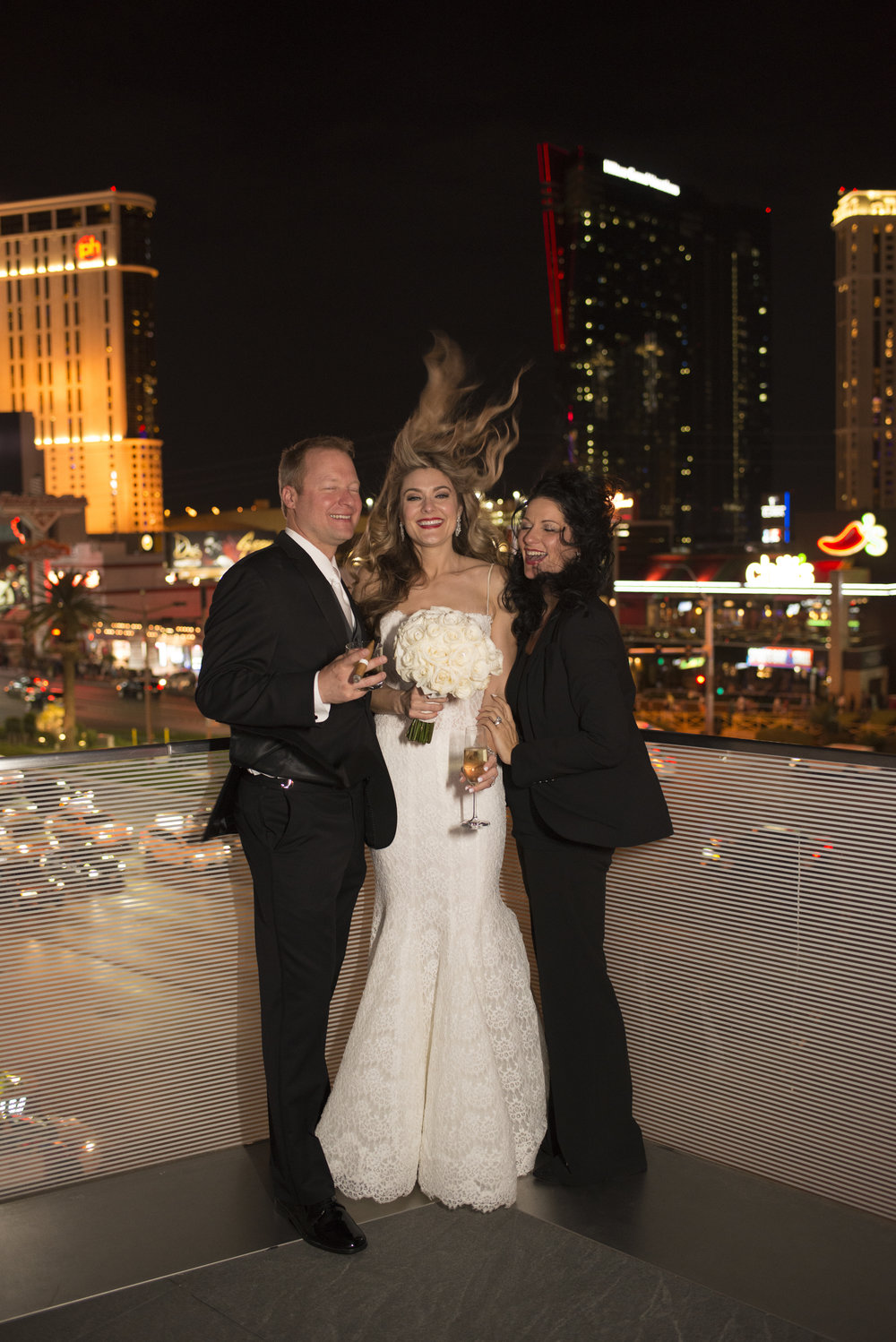 Windy Wedding Photo with Las Vegas Wedding Planner Andrea Eppolito.  Image by AltF.