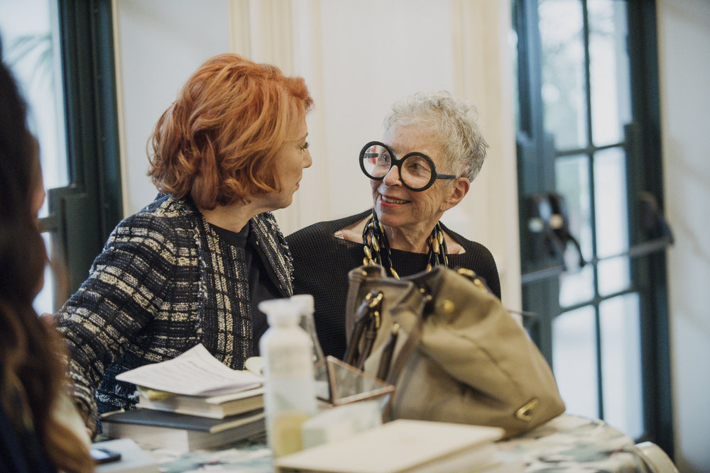 The legendary Marcy Blum and Sylvia Weinstock. Photo by Gigi de Manio.