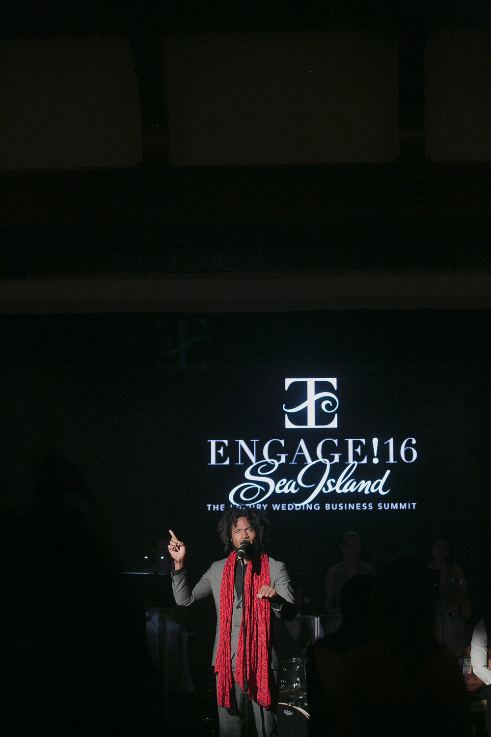 Engage is all about entertainment, and this speaking poet artist was fantastically moving!  Photo by Love Life Images.