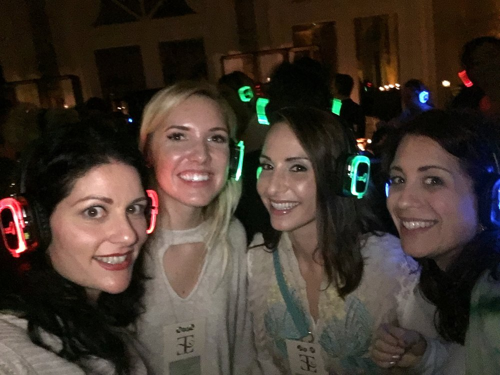 Because if you are going to silent disco, you do it with your friends!   Selfie by Andrea Eppolito.