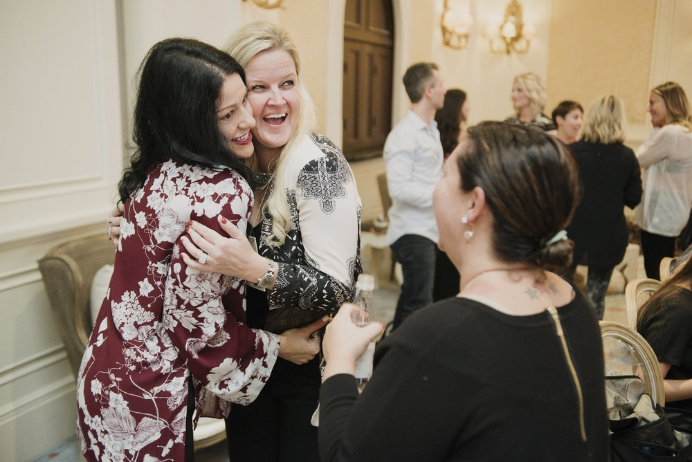 Getting my love and cuddles in with Wedding Planner Brooke Palmer Kuhl.  Photo by Joel Calloway.