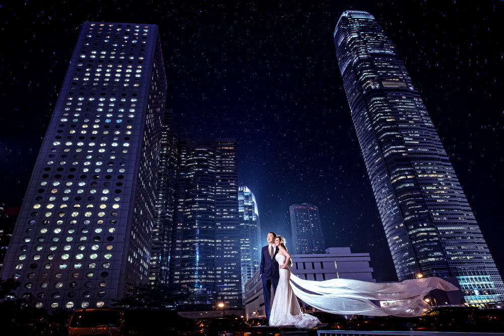 Las Vegas Wedding Planner Andrea Eppolito shares these Hong Kong Engagement Photos taken by  Aperture Photo .  Hong Kong Skyline