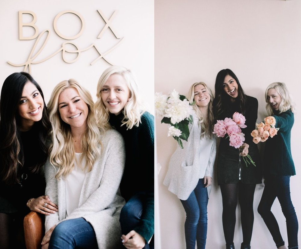 The Shop Box Fox Team is based in LA. Excited to offer customized gifting for bridesmaids and groomsmen.Las Vegas Wedding Planner Andrea Eppolito works with Shop Box Fox to prepare hand curated, luxe gifts for brides, grooms, and their bridal party members. Photo courtesy of ShopBoxFox.com.
