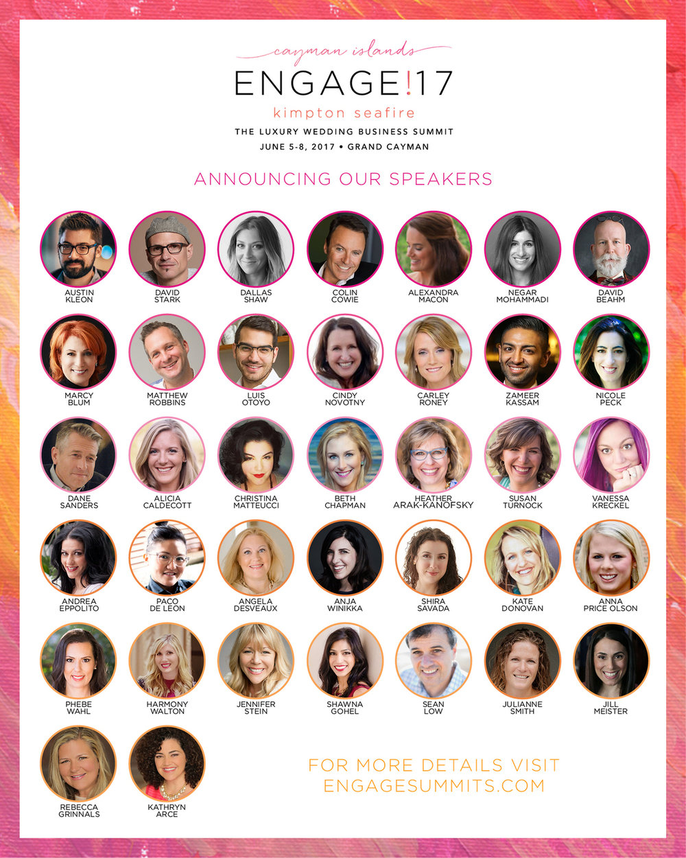 Las Vegas Wedding Planner Andrea Eppolito is speaking at Engage17 in Grand Cayman.  International speaker.