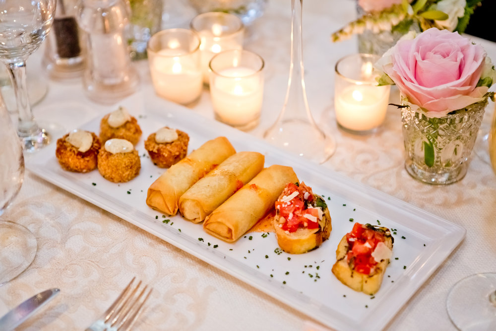 Post ceremony, the team at La Valencia will present our couple with a selection of hors d'oeuvres.  Photo by Jenny Britt.