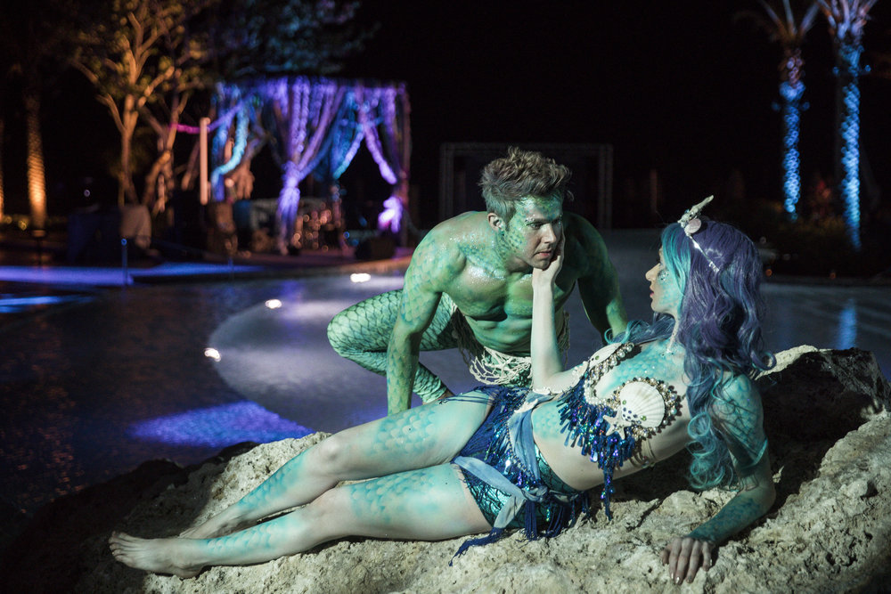 Mermaids.  Mer-men.  Mayhem!  Photo by John Cain Sargent.