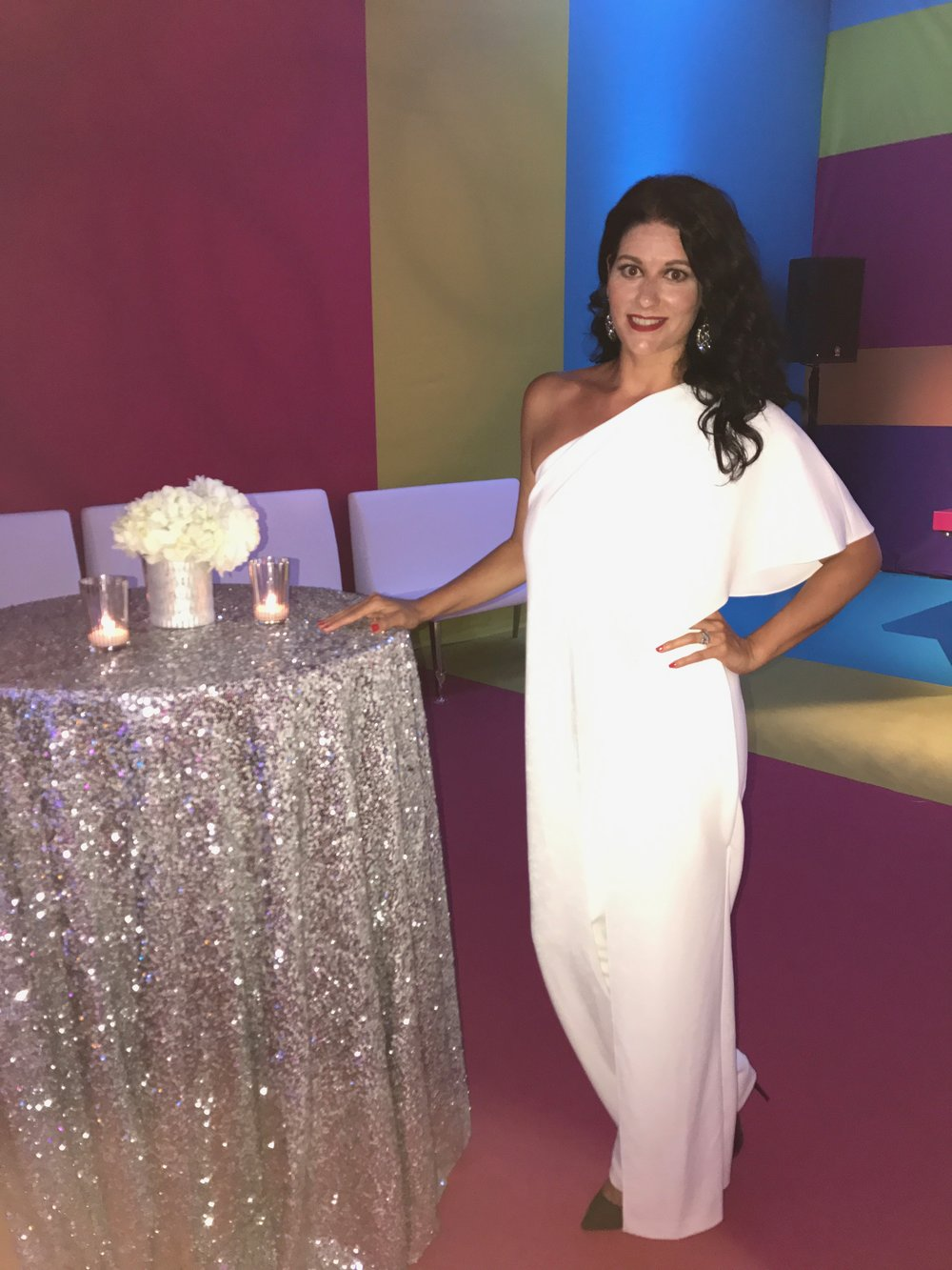 White Party! I loved every inch of that Jumpsuit!
