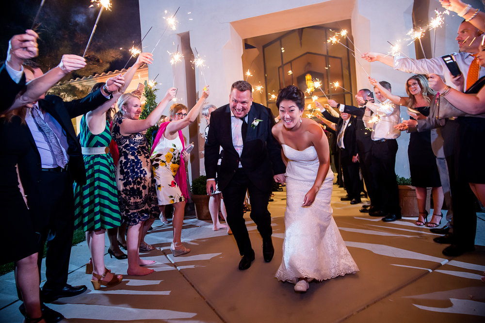 Sparkler Exit. Las Vegas Wedding Planner Andrea Eppolito.  Photo by Studio JK.