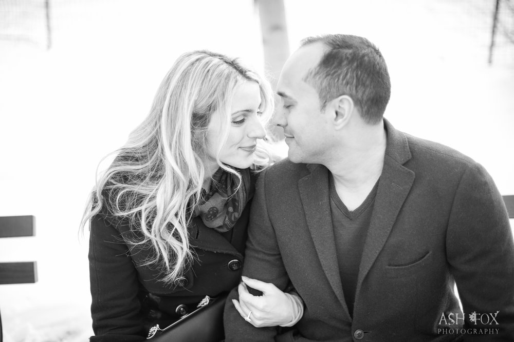 Black and NYC Central Park Engagement.  Destination Wedding Planner Andrea Eppolito  Photography by Ash Fox Photography.