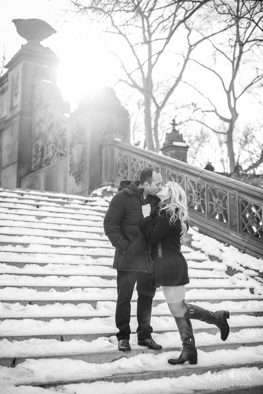 NYC Central Park Engagement.  Destination Wedding Planner Andrea Eppolito  Photography by Ash Fox Photography.