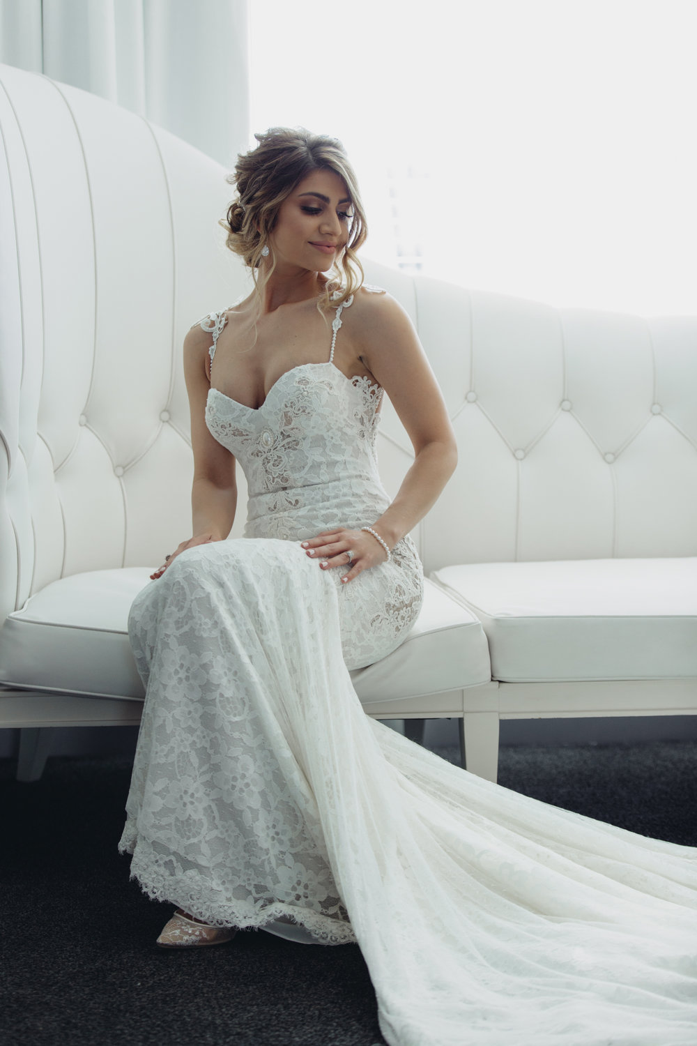 Lace Berta Wedding Gown.  Luxury Destination Wedding Planning and Event Design by  Andrea Eppolito Events  · Photos by  Stephen Salazar  ·