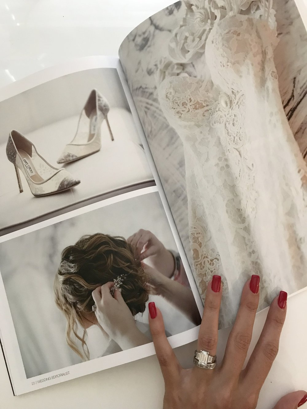 Our personalized magazines look as good in print as they do online:  www.weddingeditorialist.com