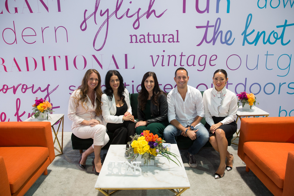 Proud to be on The Knot Live with Kaleigh of Meldeen, Anja of The Knot, photographer Brian Leahy, kand Alice from Daughter of Design.  Las Vegas Wedding Planner Andrea Eppolito.  Booth and Event Design by Destinations by Design.  Photos by Stephen Salazar.