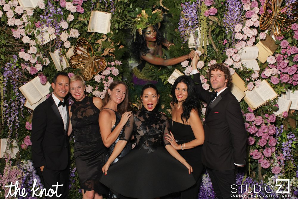 With friends and fellow wedding creatives at The Knot Gala 2017 in New York City.