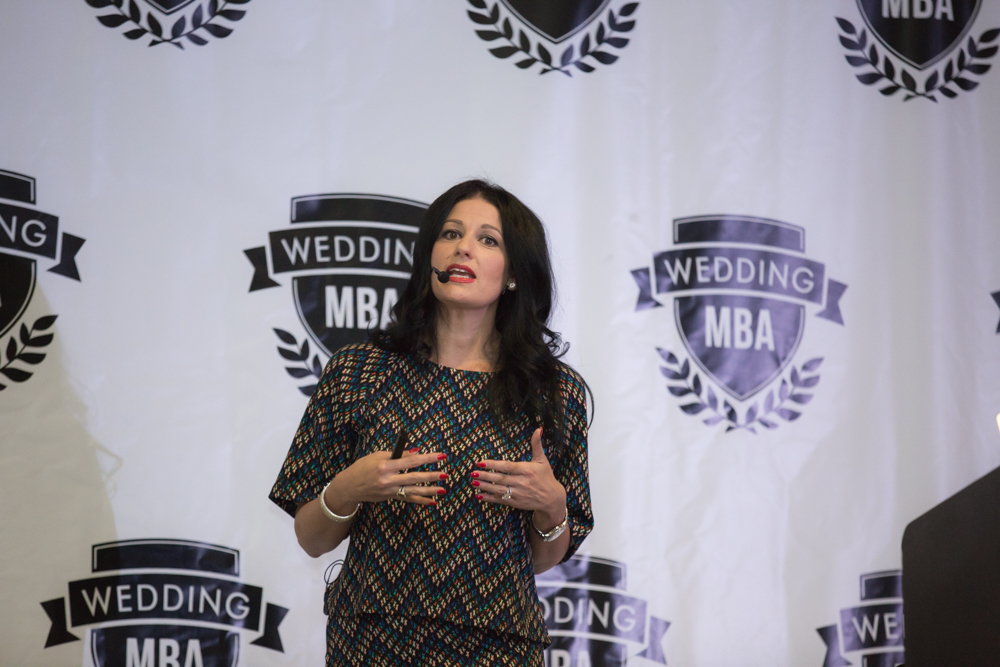 Luxury Las Vegas Wedding Planner Andrea Eppolito speaks at the Wedding MBA.  Photo by Stephen Salazar.