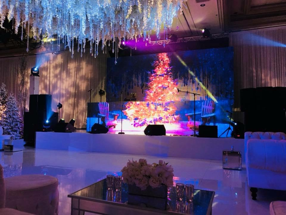Behind the scenes Russian winter wonderland wedding at Bellagio Las Vegas.  Produced by Las Vegas Wedding Planner Andrea Eppolito.  Christmas Wedding