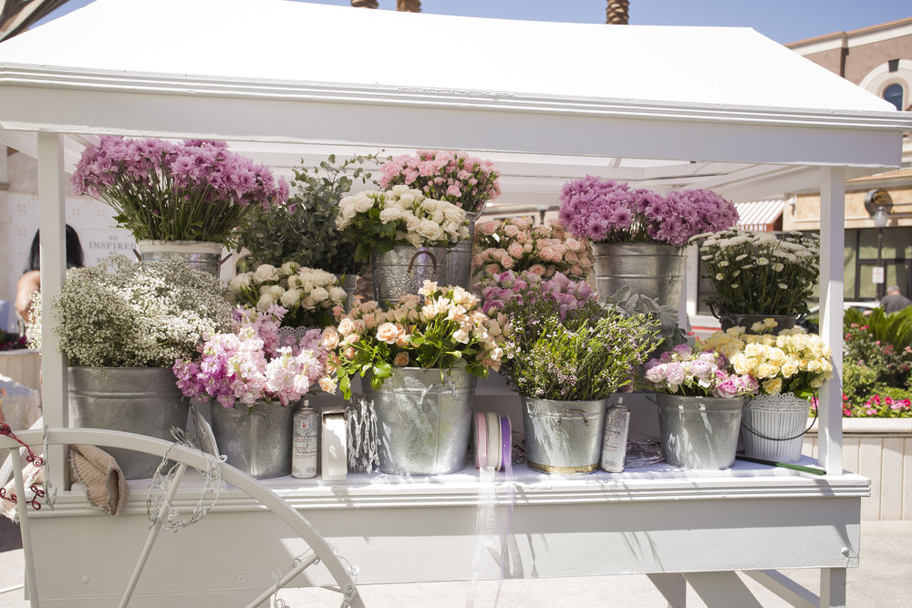 Flower Cart at Birthday Party. Las Vegas Event Planner Andrea Eppolito. Visit www.andreaeppolitoevents.com