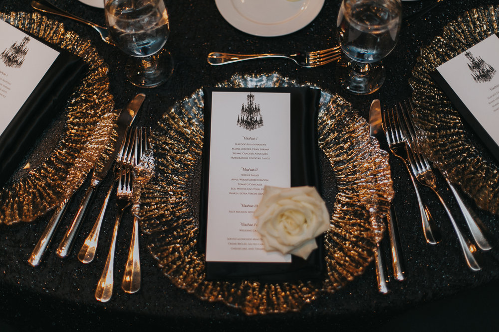 Art Deco Gatsby Wedding Place Setting