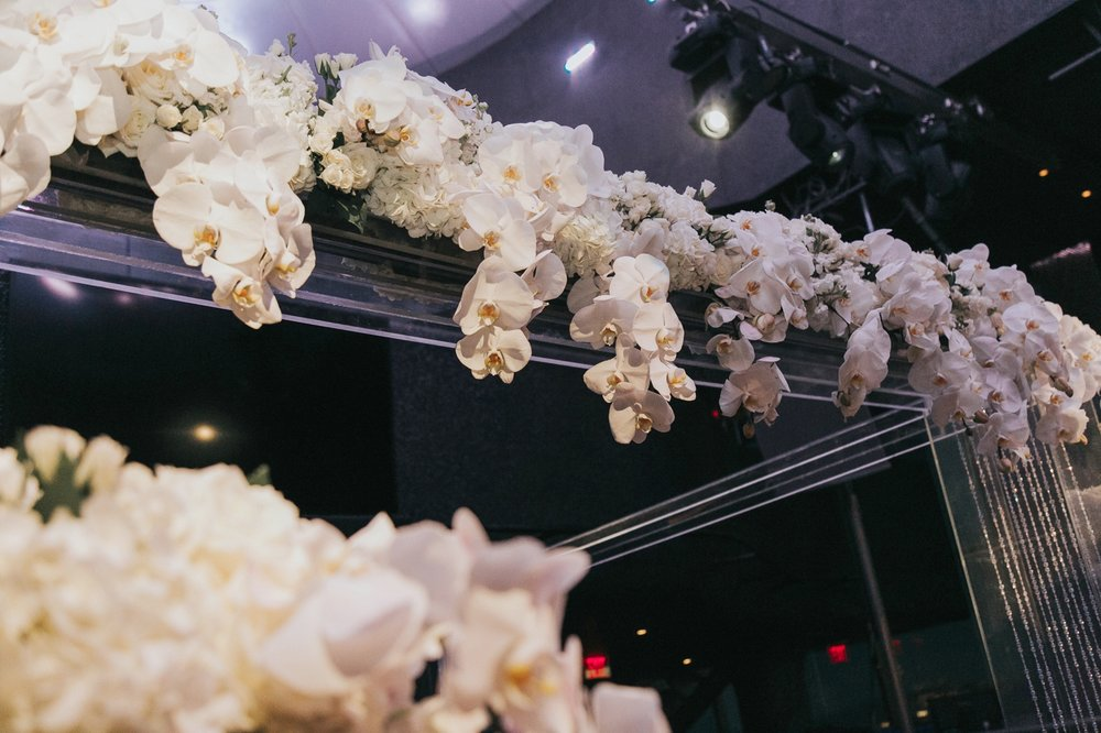 White Orchid Chuppah Topper