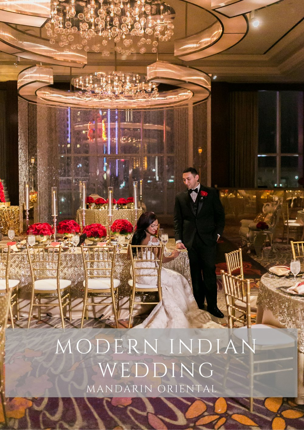 Modern Indian Wedding in Las Vegas with Red and Gold Color Scheme. Las Vegas Wedding Planner Andrea Eppolito. Photos by J. Anne Photography. Decor by Destinations by Design.