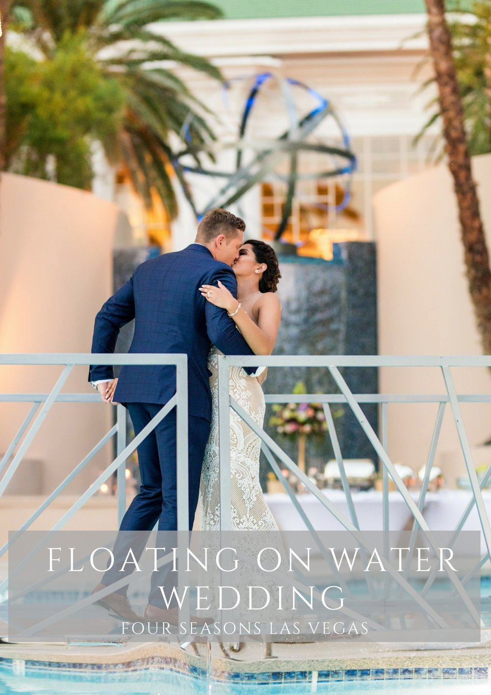 Floating wedding cake wedding. Las Vegas Wedding Planner Andrea Eppolito. Photos by Haley Shandro.