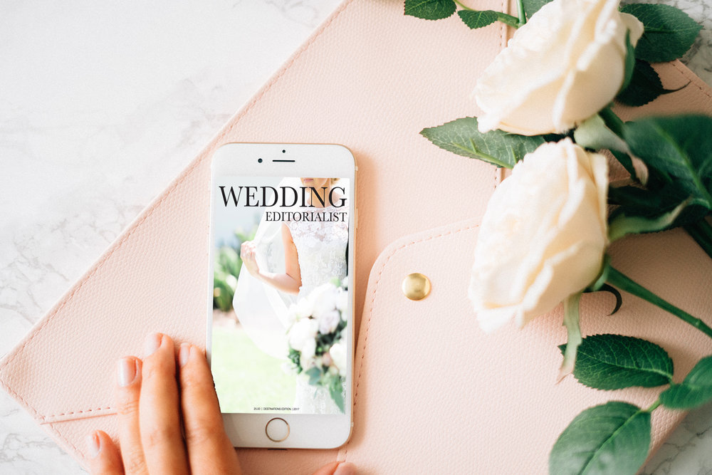 The Wedding Editorialist is a self published wedding magazine that is published in print and online.  Digital and responsive.  Available on Issuu.com.