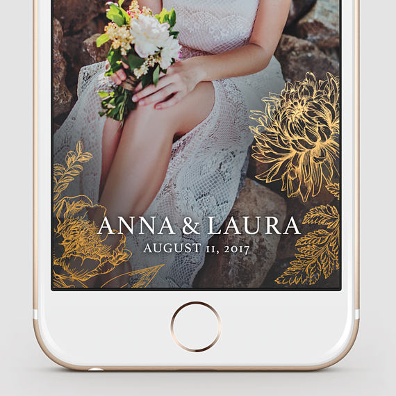 Wedding Snapchat Filter available by  You & Moon on Etsy.