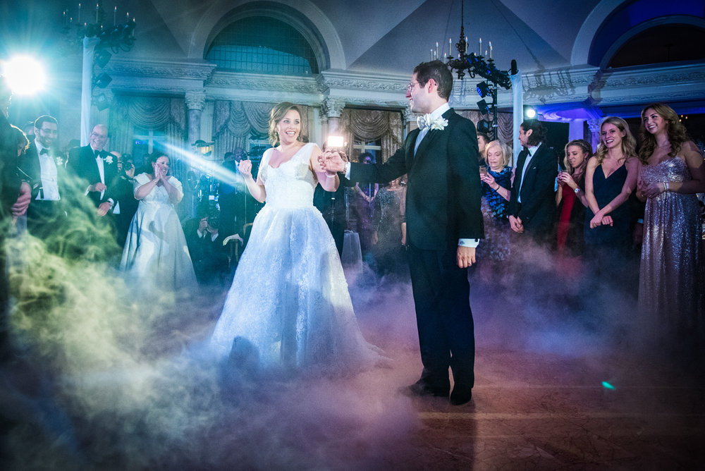 First Dance with Fog by Celebrity Photographer Brian Friedman.  The lighting is perfect.