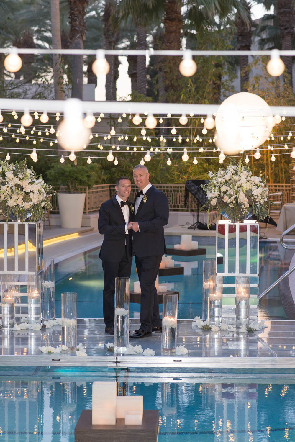 Gay wedding at Red Rock Las Vegas by Wedding Planner Andrea Eppolito.  Phtoo by AltF.
