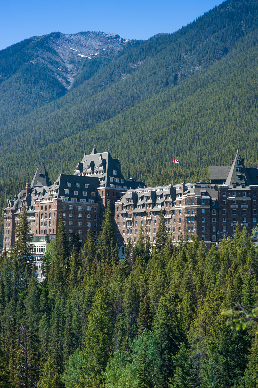 The Fairmont Banff as seen from above.Photo by Cameron Kelly Studios.