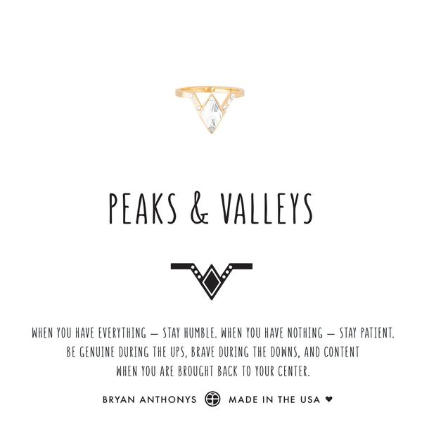 Peaks & Valleys Midi Ring