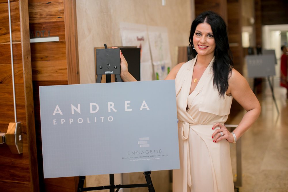Proud to be a speaker at Engage! Las Vegas Wedding Planner Andrea Eppolito speaking at the Engage Luxury Wedding Business Summit.